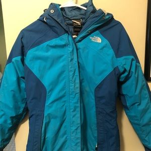 Women's small North Face 2 part jacket w shell